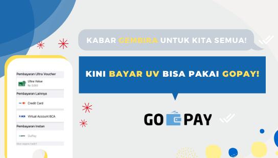 Kabar Gembira Untuk Kita Semua~ Kini Bayar UV Bisa Pakai GoPay!