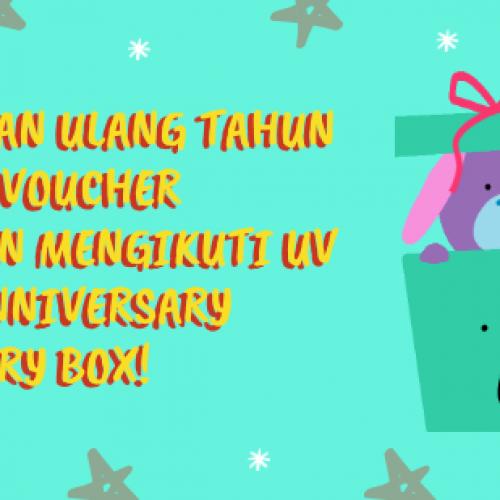Rayakan Ulang Tahun Ultra Voucher dengan Mengikuti UV 2nd Anniversary Mystery Box!